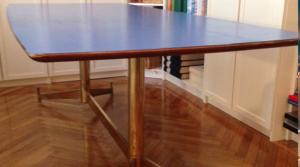 Il mio tavolo vintage completamente restaurato con smalto ad acqua, sidol e olio per restauro